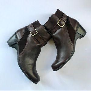 Naturalizer Women's Dark Brown Leather angel boots